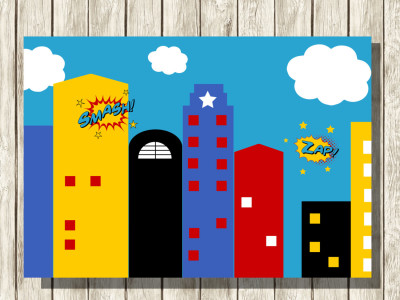 superhero birthday party printable magical printable. Black Bedroom Furniture Sets. Home Design Ideas