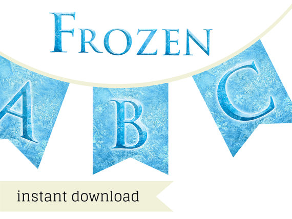 photo relating to Frozen Banner Printable referred to as Frozen Font Banner - Magical Printable