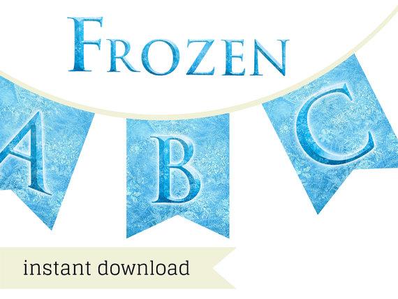photograph regarding Frozen Banner Printable known as Frozen Font Banner - Magical Printable