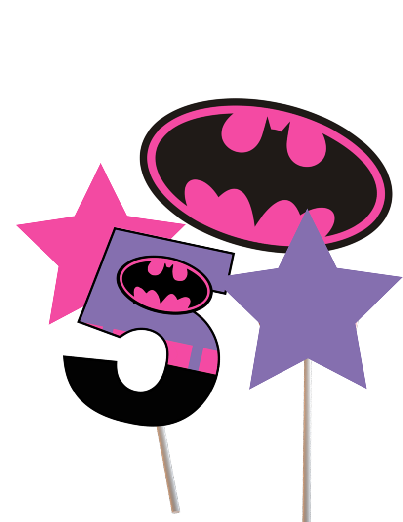 photo about Batgirl Logo Printable titled centerpiece batgirl - Magical Printable