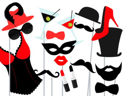 red-black-bachelorette-photo-booth-props