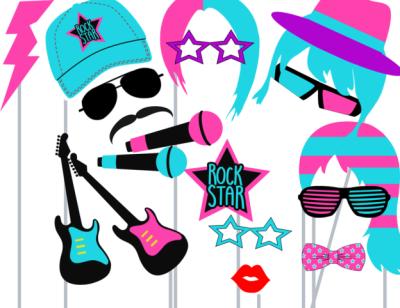 rockstar-photo-booth-props