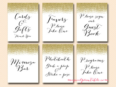 Wedding Signs Bridal Shower Baby Magical Printable