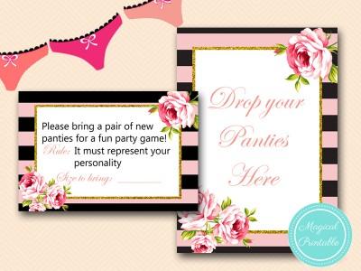 BS419-panties-game-sign-drop-your-panties-pink-floral-bridal-shower-game
