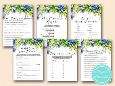 bs175 blue floral bridal shower games