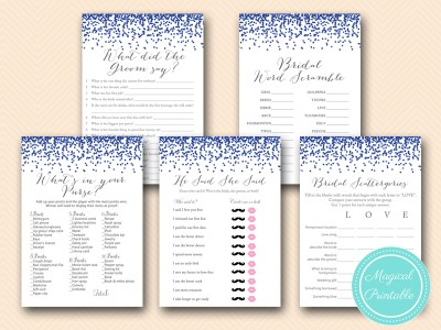 navy and gray bridal shower games printable bs407