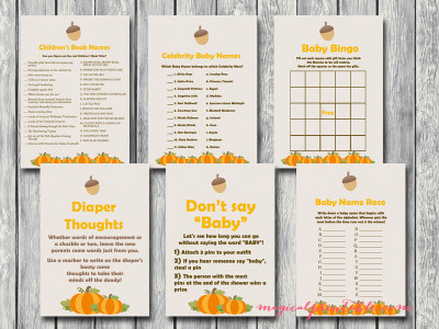 pumpkin baby shower games, little pumpkin, autumn baby shower tlc92