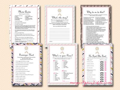 trial bridal shower games, boho bridal shower games, bs121