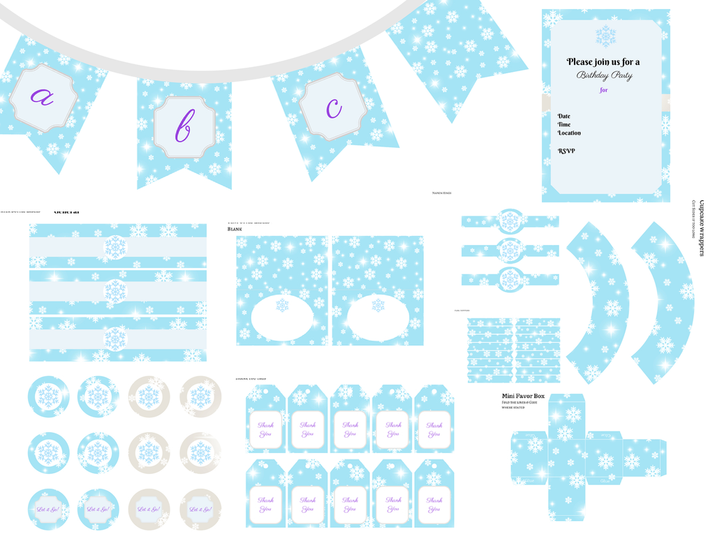 photograph about Frozen Banner Printable named Frozen Printable - Magical Printable