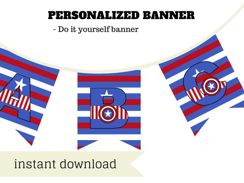 Captain America Banner Magical Printable