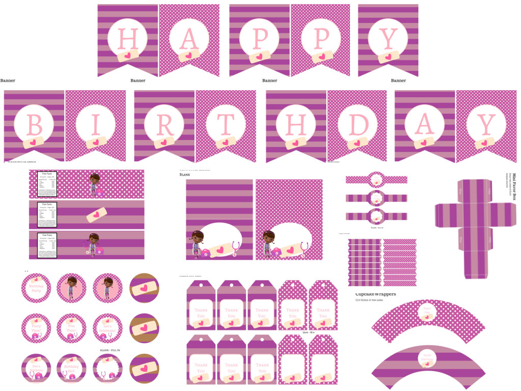 Doc Mcstuffins Birthday Pack Magical Printable