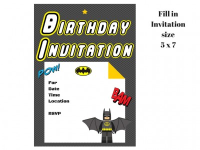 Superhero Birthday Party Printable