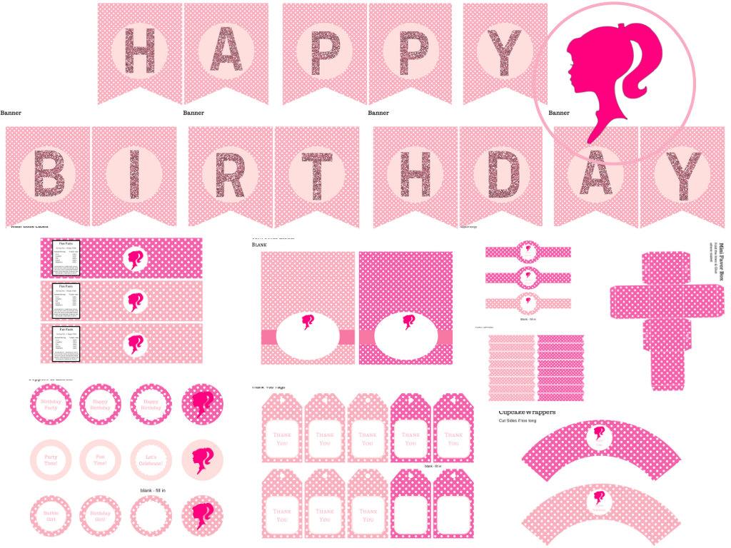 barbie birthday pack magical printable. Black Bedroom Furniture Sets. Home Design Ideas