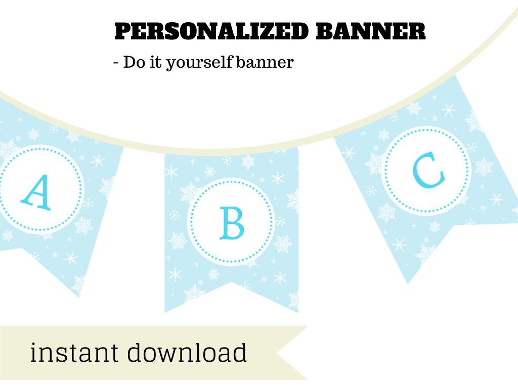 photograph regarding Frozen Banner Printable identified as Frozen Banner - Magical Printable
