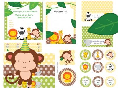 Jungle Safari Animal Baby Shower Magical Printable