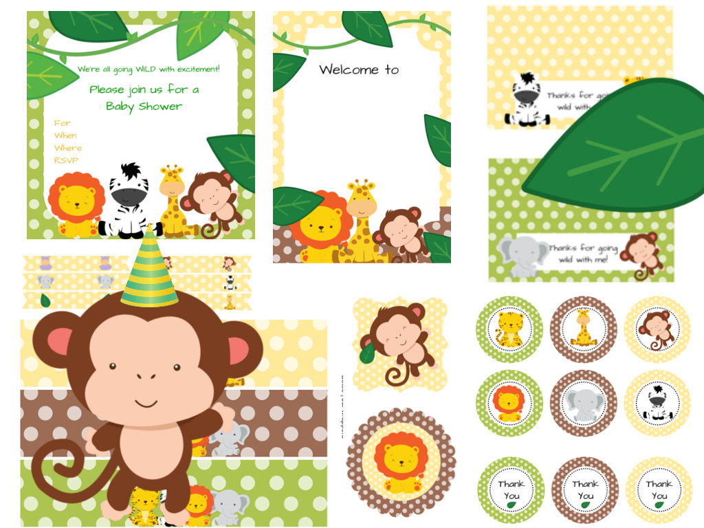 It's just an image of Nerdy Free Printable Baby Safari Animals