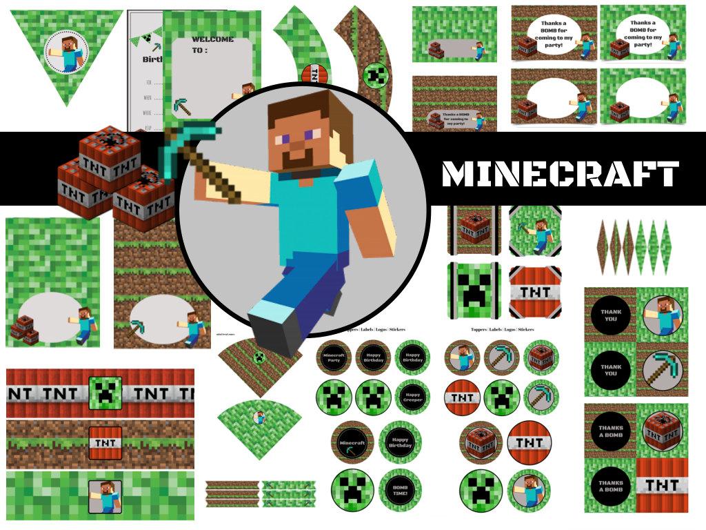 minecraft birthday pack