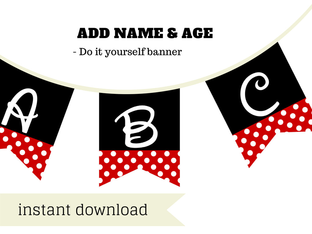 Minnie mouse banner disney font magical printable solutioingenieria Images