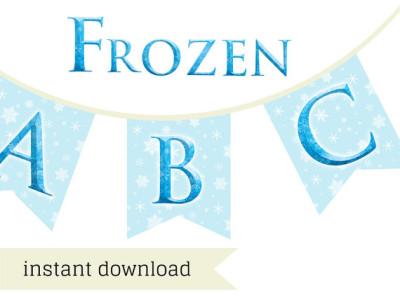 picture regarding Frozen Banner Printable called disney frozen banner elsa anna - Magical Printable