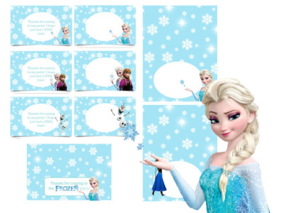 Influential image inside frozen printable labels