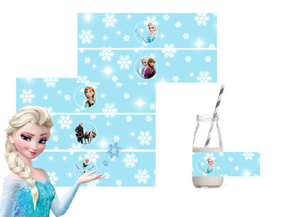 image relating to Frozen Printable Labels named Frozen H2o Bottle Labels - Magical Printable