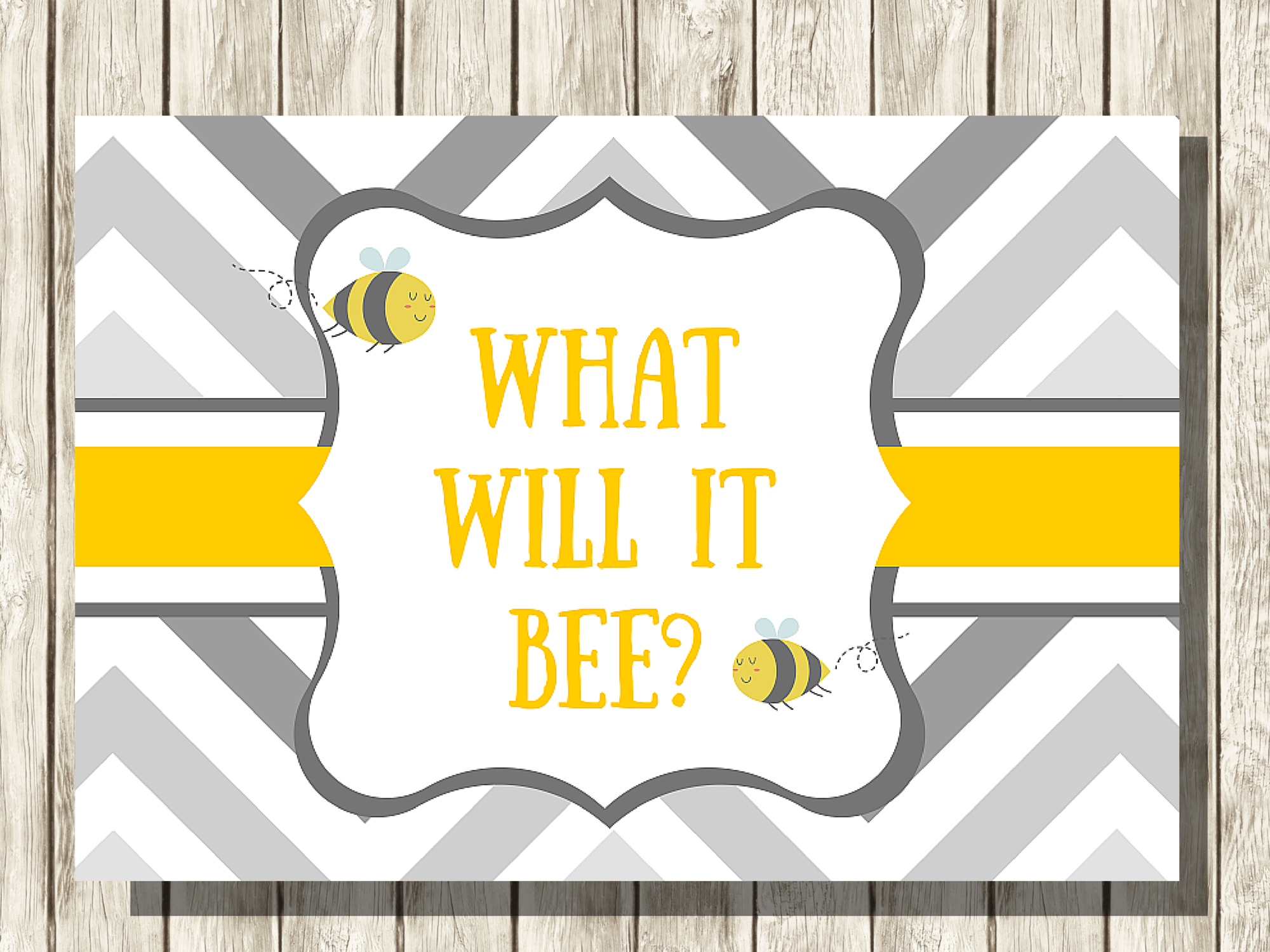 what will it bee baby shower backdrop magical printable