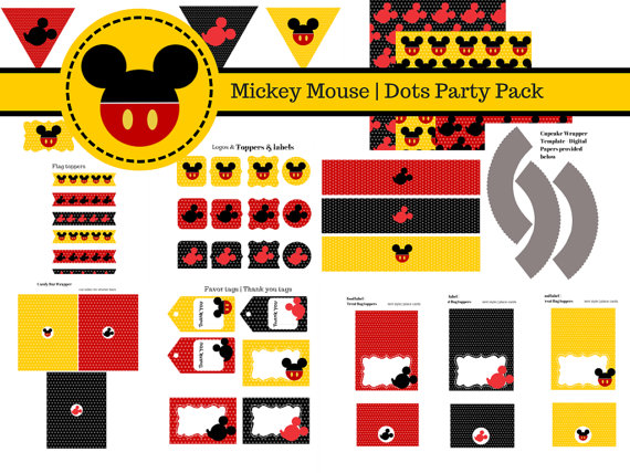 Free Mickey Mouse Party Printables Magical Printable