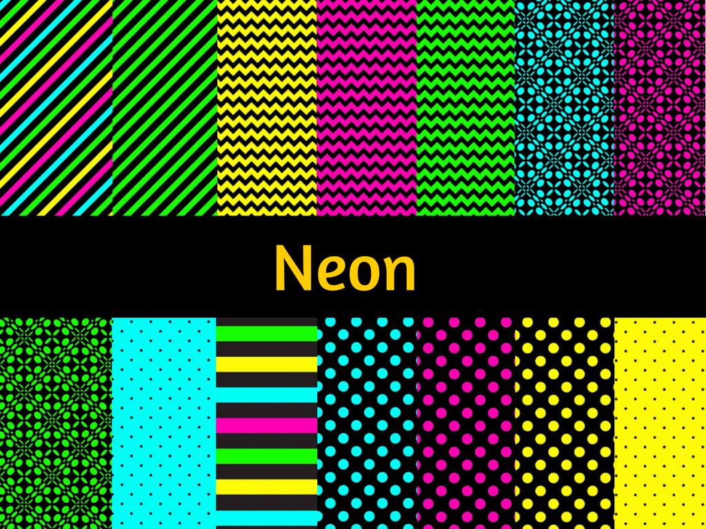 neon digital papers