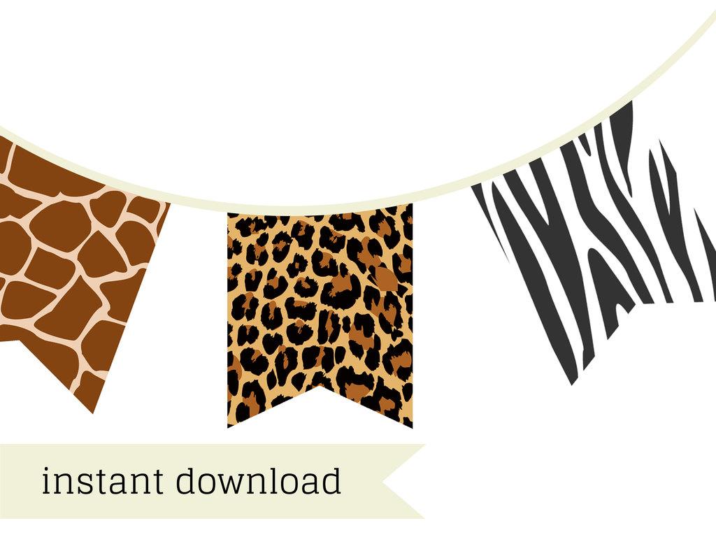 Safari Banner, jungle banner - Magical Printable