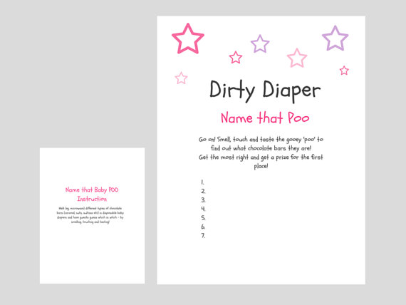 home baby shower games pink dirty diaper game girl baby shower game 10