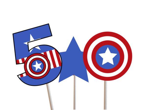 photograph regarding Captain America Printable called Captain The usa Centerpiece - Magical Printable