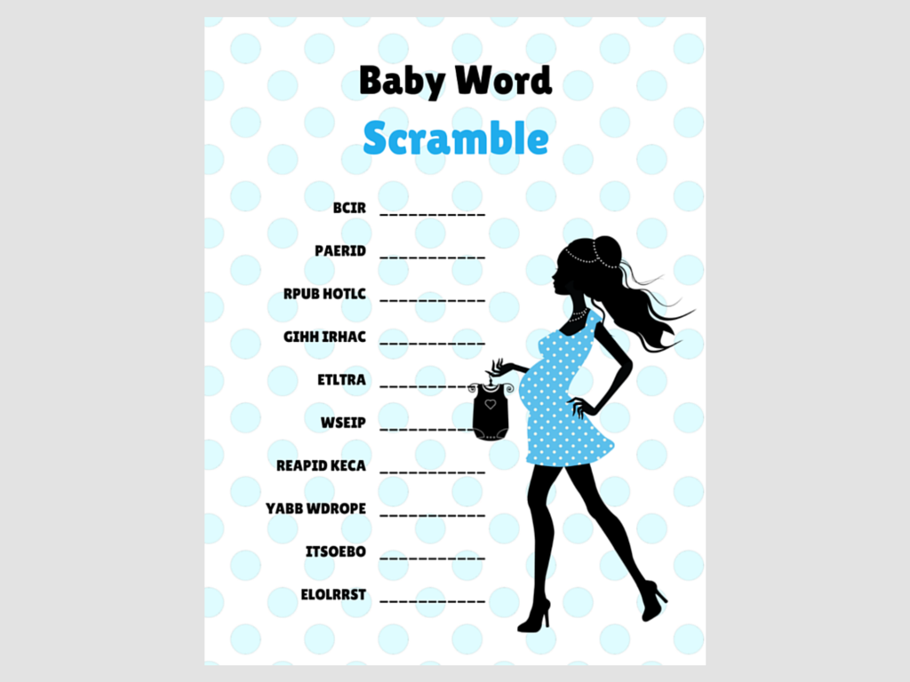 graphic relating to Printable Baby Word Scramble identify Blue Stylish Child Phrase Scramble - Magical Printable