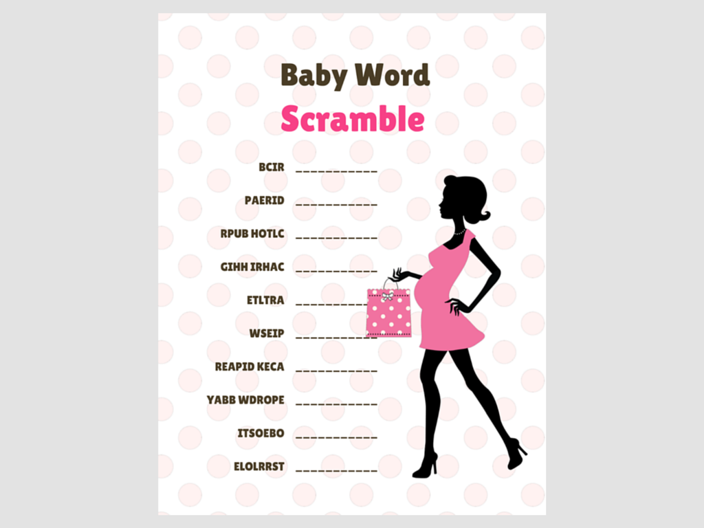 image regarding Printable Baby Word Scramble named Stylish Boy or girl Term Scramble Red - Magical Printable