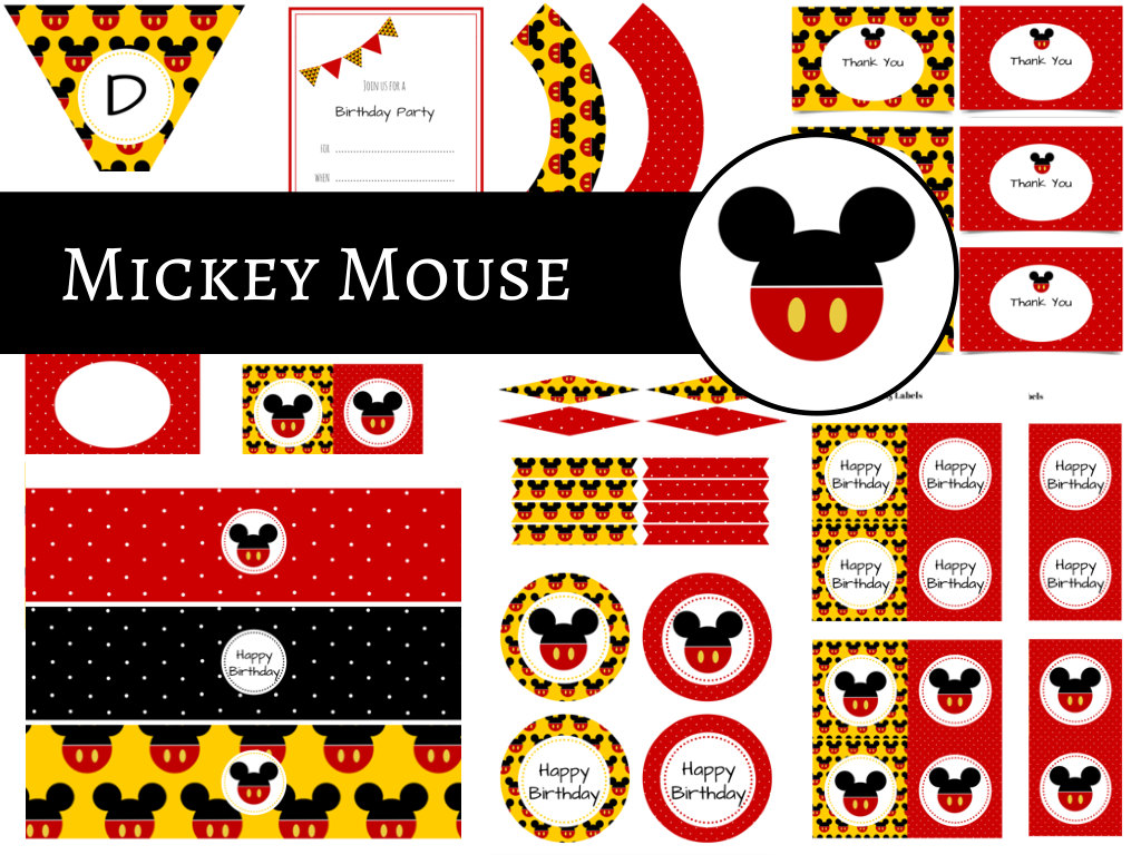 Mickey Mouse Party Package - Magical Printable