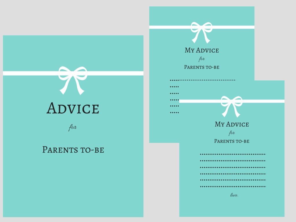 picture regarding Mommy Advice Cards Printable titled Child Shower Suggestions Playing cards - Magical Printable