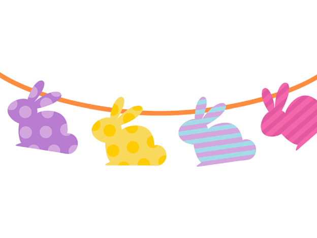 Bunny Bunting Template easter bunny drawing archives design corral ...