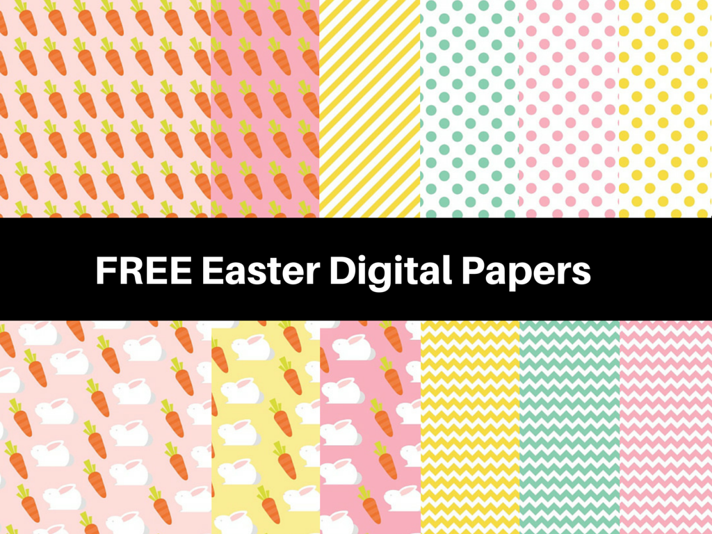 free easter holiday digital papers
