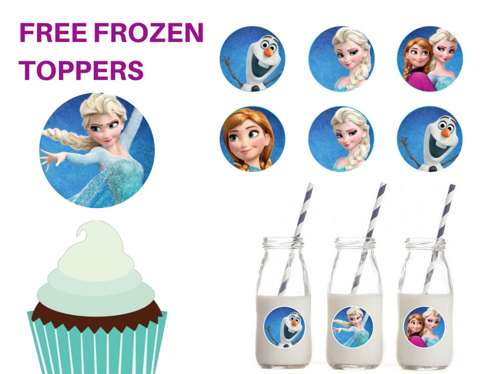 Free Printable Frozen Cupcake Circle Toppers Magical Printable