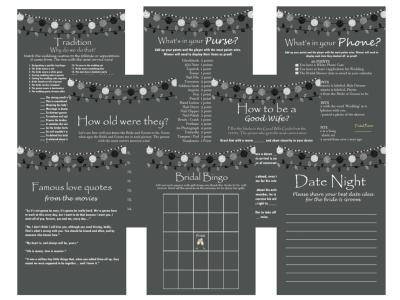 Printable Rustic Bridal Shower Game Package Set, Activities, Unique Bridal Shower Games, Bachelorette Games, Wedding Shower Games
