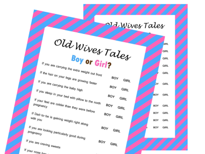 image relating to Gender Reveal Games Printable identify The Previous Wives Story Gender Make clear Little one Shower Sport - Magical Printable