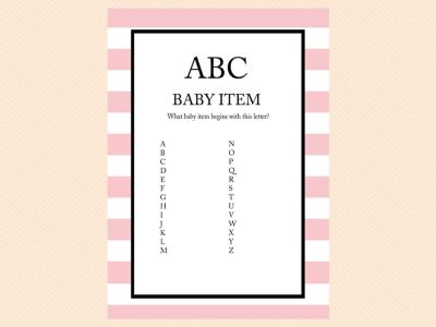 pink stripes parisian baby shower games magical printable. Black Bedroom Furniture Sets. Home Design Ideas