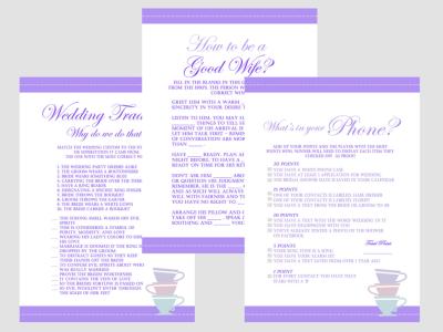 Purple Tea Party Bridal Shower Games, Lavender Bridal Shower Games, Download games, Bachelorette Games, Wedding Shower Games BS21