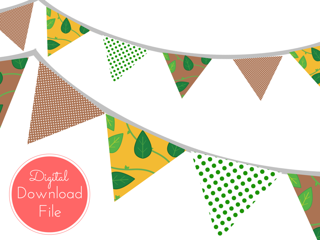 Jungle baby shower banner magical printable Baby shower banners