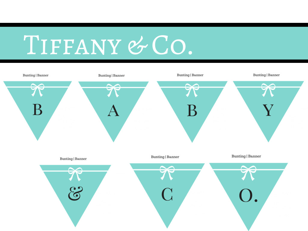 Tiffany Party Decoration Banner - Magical Printable