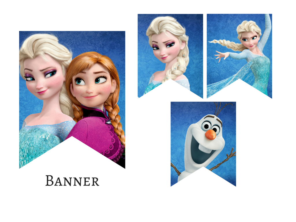 photo relating to Frozen Banner Printable identified as Frozen Elsa Anna Olaf Celebration Banner - Magical Printable