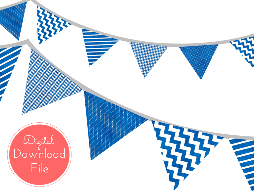 Blue Watercolor Nautical Banner - Magical Printable