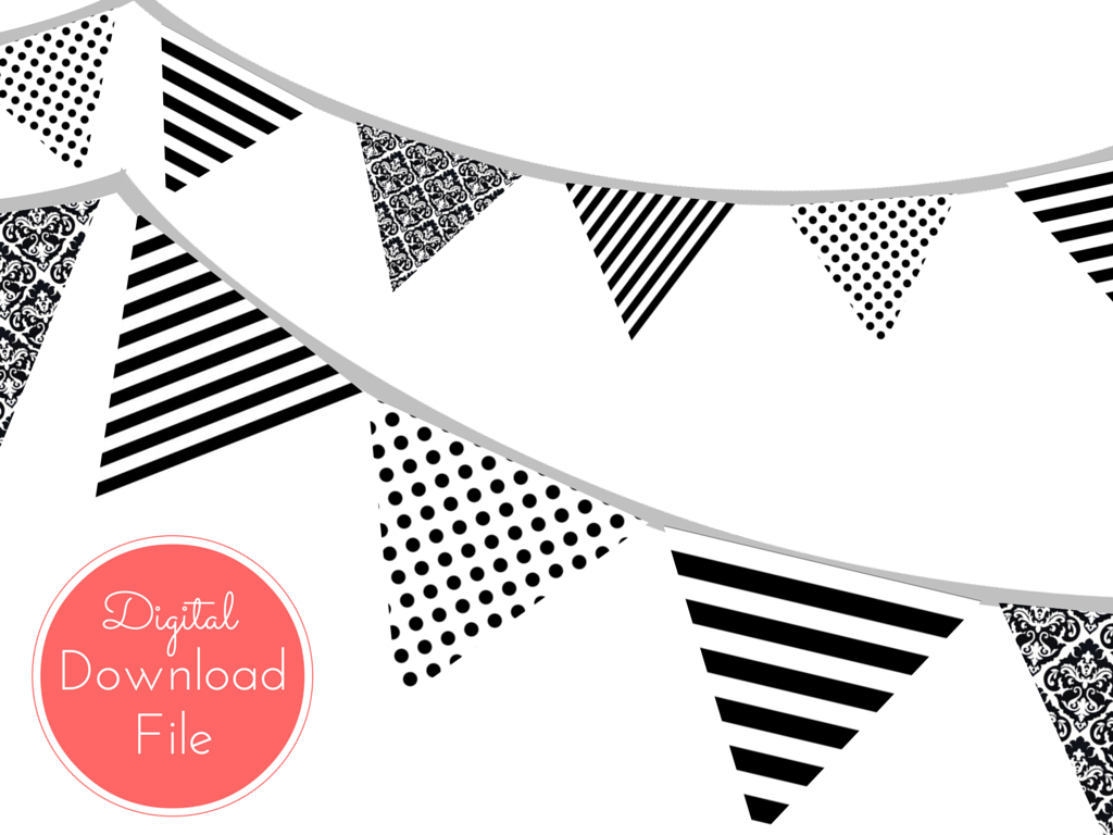 Modern Chanel Inspired Black and White Banner - Magical ...