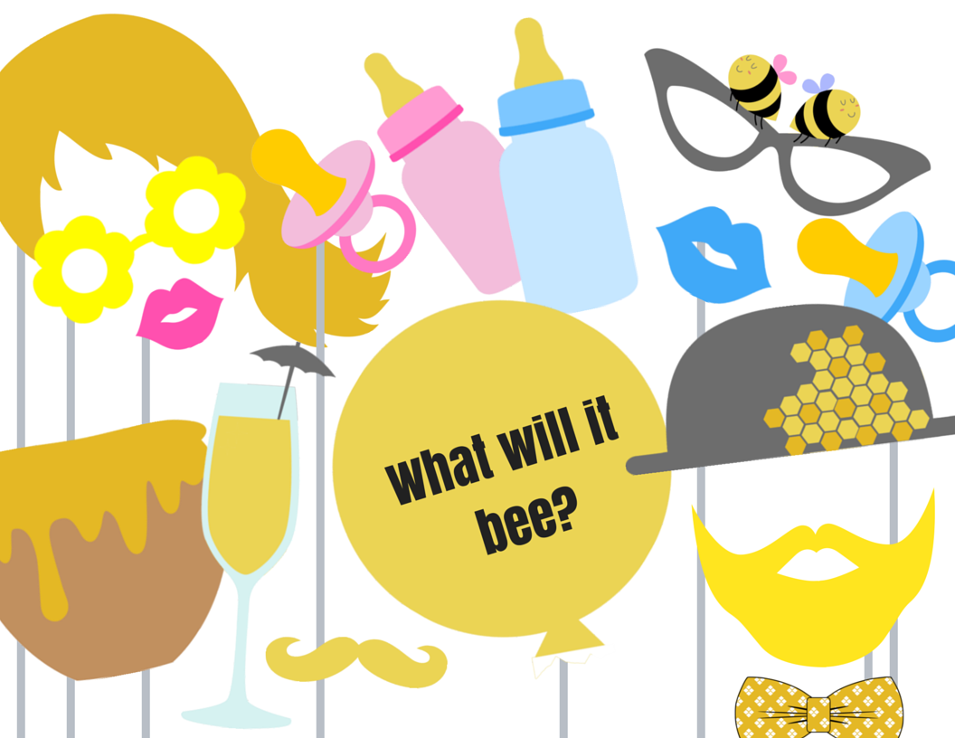 What Will It Be Bee Photo Booth Props Magical Printable