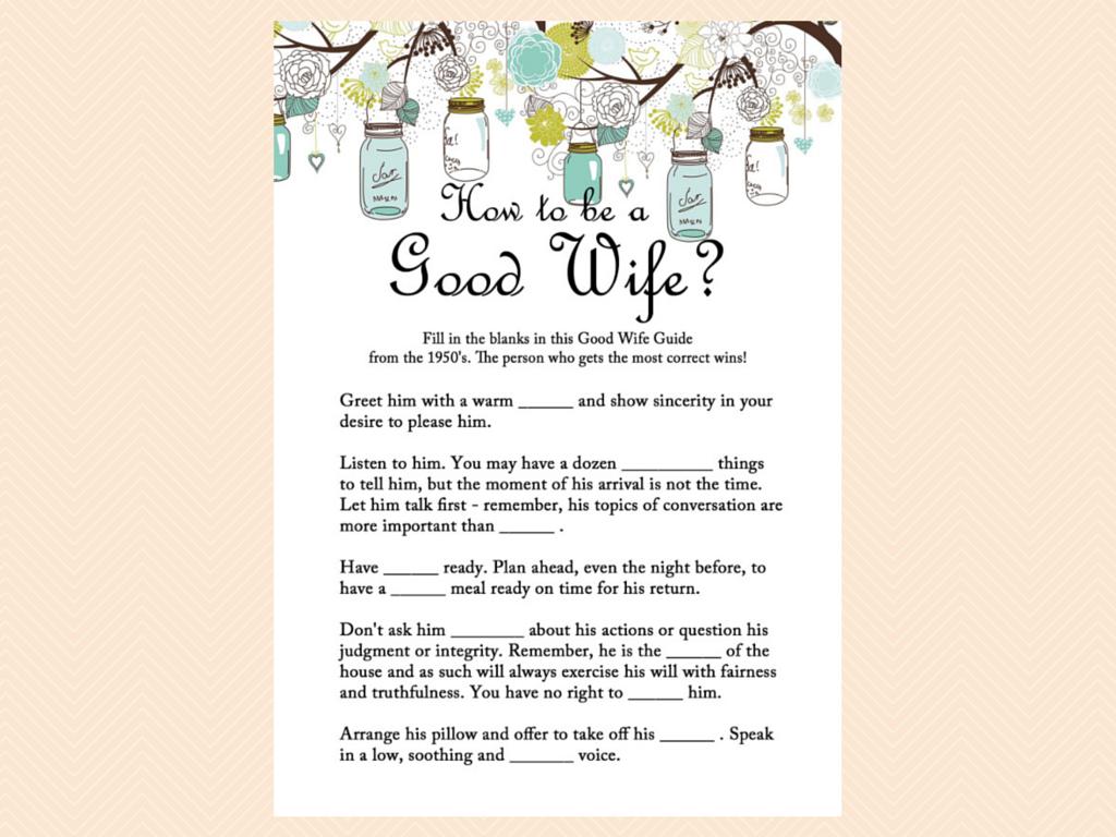good wife 1950 essay