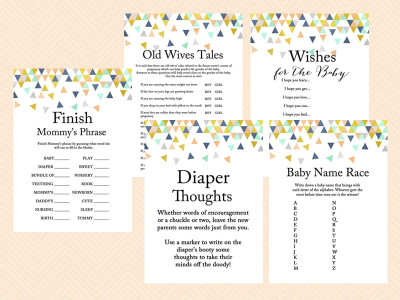 mint baby shower games modern baby shower game geometric confetti baby